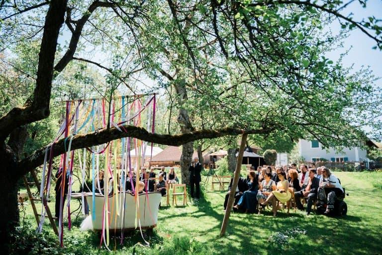 Hochzeitsfilm Müchen Hochzeitsfotograf Wegemacherei, Ammersee, Windach, Gartenhochzeit
