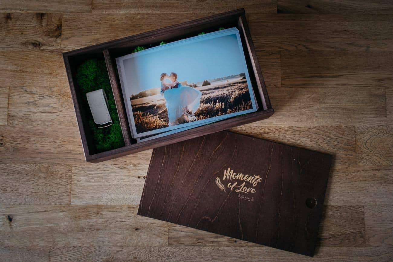 Hochzeitsalbum plus USB Stick in Holzbox Hochzeitsgalerie