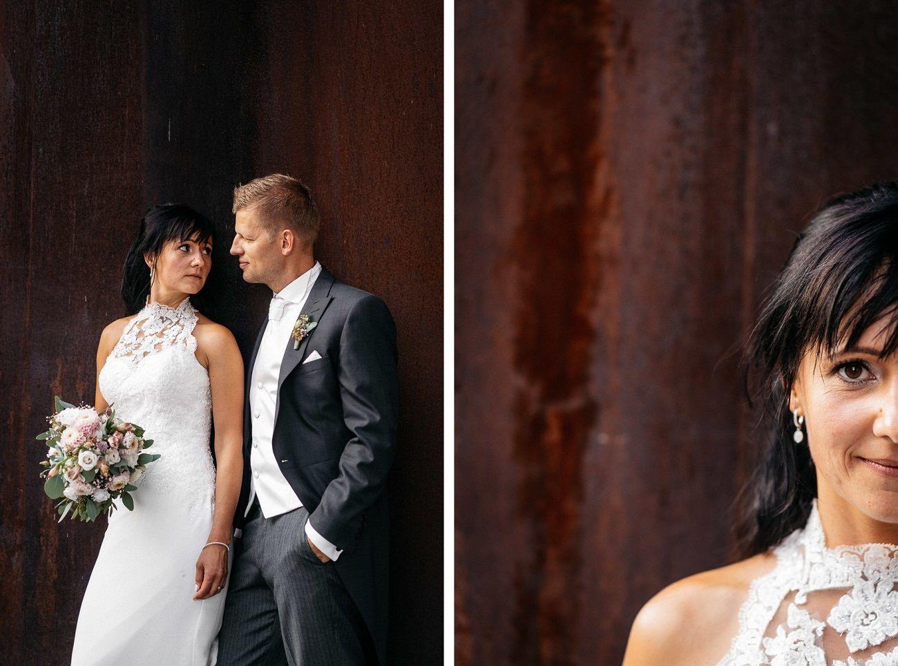 Hochzeit Hochzeitsfotograf Kesselhaus Kolbermoor Industrial Modern Kupfer Wedding Shooting Location