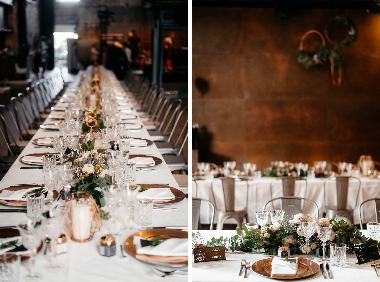 Hochzeitstrends 2019 Kesselhaus Kolbermoor Industrial Modern Kupfer Wedding