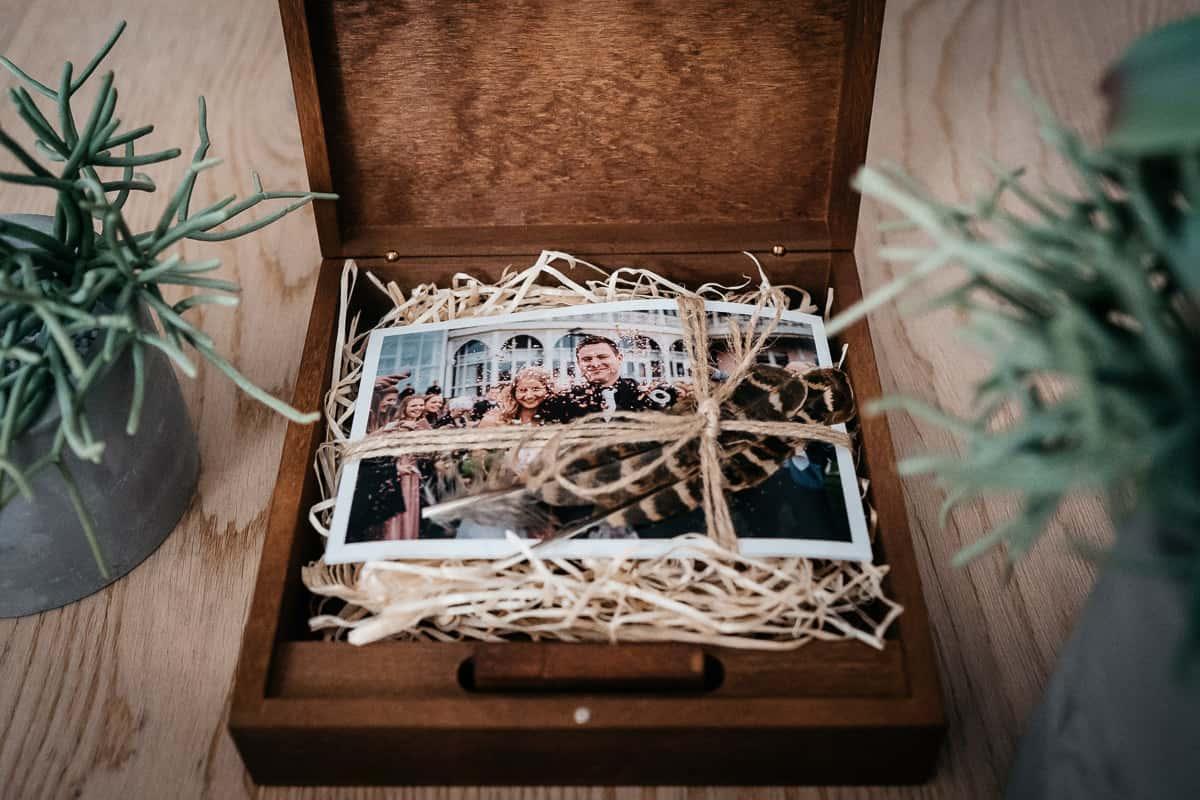 Holzschachterl USB Stick Hochzeitsfotograf