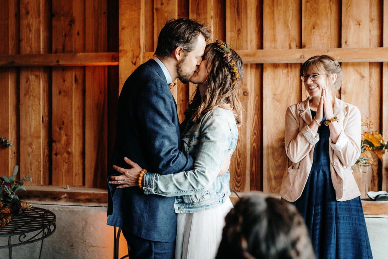 Hochzeit freie Trauung Alte Tenne Moosinning Eder am Holz