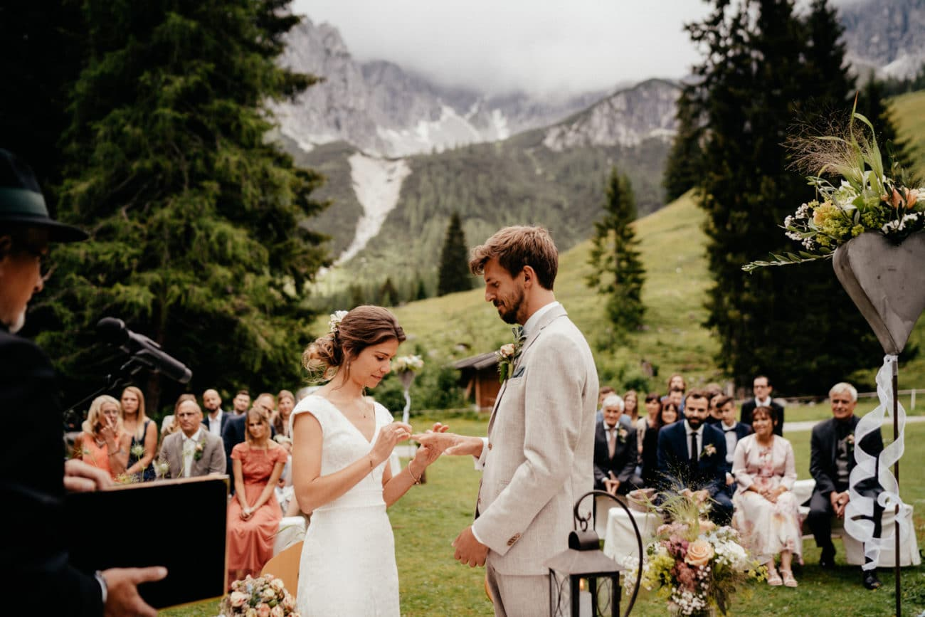 Hochzeit in den Alpen Hochzeitsfotograf München